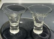 Bacardi Coco Fluted Shot/cocktail Glasses Set Of 2