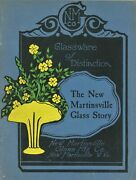 New Martinsville Art And Pressed Glass - History Patterns / Scarce Signed Book