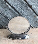 French Style Vintage Art Deco Heavy Chrome Plated Dressing Table Vanity Mirror