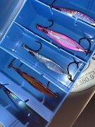 New Rigged Japan Rector Style Slow Pitch Jig Set. 100gr. 5 Jigs Lmtd.time.
