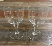 2baccarat Crystal Normandie Tall Water Goblets