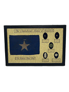 The Confederate States Civil War Relics Bullets Button Display Case Set