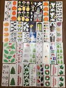 50 Rare Strips Halloween And Christmas Holiday Big Variety Mrs Grossmanandrsquos Sticker
