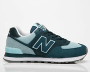 New Balance 574 Womenand039s Trek Teal Low Casual Athletic Lifestyle Sneakers Shoes