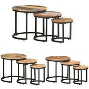 3pcs Solid Reclaimed Wood Nesting Table Coffee Table Side End Table Living Room