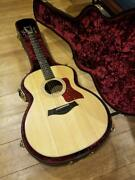 Taylor 214e-dlx Es2 Acoustic Guitar With Hard Case Manual Used Good Condition