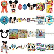 Disney Mickey Mouse Clubhouse Party Favor Game Decoration Tableware Balloons Acc