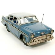 Bandai Tinplate Friction Car Nissan Skyline Antique Made In Japan F/s