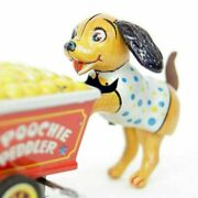Wind-up Type Tinplate Toy Poochie Peddler With Box 1950s Japan Worldshipping