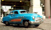 Masudaya Buick Blue 1950s Vintage Tin Toy Friction Car Fast Shipping From Japan