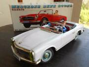 Alps Tin Toy Mercedes Benz 230sl Large W / Box Made In Japan Vintage Retro Rare