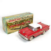 Nomura Toy Kosuge Ford Skyliner Sport Car Red Made In Japan Battery Operated