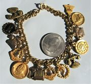 Vintage /10 10k Gold Filled Bell Telephone With 13 Charms Bracelet Phones 7and039