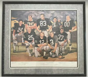 1992 Nfl Raiders Lithograph 32x36andrdquoautographed By All 9 Players 423/1000 Mint