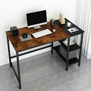 Home Office Computer Desksmall Study Writing 47 Inches A-vintage Oak Finish
