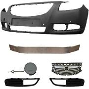 Set Bumper Front Primed+carrier+accessories For Vauxhall Insignia Year 08-13