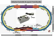 Rokuhan Z Scale Double Oval Layout I With Rc03 Controller And Wall Adapter
