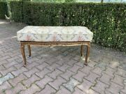 Antique Bed Bench/stool With New Cushion