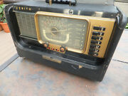 Vintage Zenith Transoceanic Tube Radio Model H500 Shortwave And Am - Works, Issues