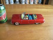 Corvair Toy Tin Friction Convertible 9 Inch Long Very Cute