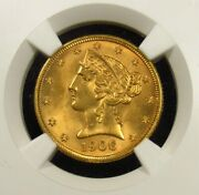 1906-d 5 United States Gold Half Eagle Ngc Ms65 001 Wow Nice Coin