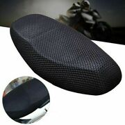 Dustproof Motorcycle Seat Cover Black Polyester Parts Electric Bike 3d Mesh