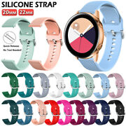20/22mm Silicone Sport Band Strap For 42/46 Samsung Galaxy Watch 3/active 40/44