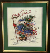 Dimensions Gold Collection Windswept Traveler Christmas Santa Cross Stitch Kit