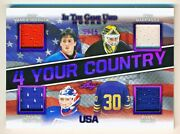 2020-21 Itg Used Vanbiesbrouck Barrasso Richter Miller 4 Your Country Jersey /15