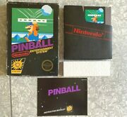 Nes Pinball Action Series Nintendo Complete W/ Manual And Box Cleaned And Tested