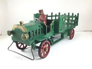 Original 1930andrsquos Large Cast Iron 5 Ton Hubley Stake Truck