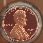 2017 S Lincoln Shield Gem Mint Deep Cameo Proof Cent / Penny 428