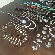 Huge Vintage To Now Sterling Silver 925 Jewelry Lot 3 Lbs And 6 Ounces + Items