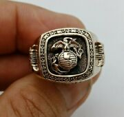 Us Military Marines Corps Rings Size 7-13 Gold 10k