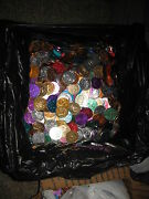 1500 Mixed Mardi Gras Doubloon Aluminum Coin New Orleans About 15 Coins