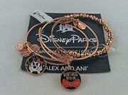 Disney Alex And Ani Don't Mess With The Bow 3pc Set, Nwt, Card, Aa Box