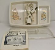 Vintage Gerber Hot 'n Cold Feeding Dish Deluxe Electric W/ Cover Model 3718.