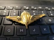 Belgium Army Commando Paratrooper Wing Gold Badge ---see Store Ww1 Medals