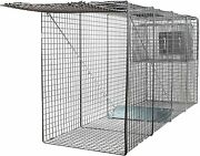 Big Animal Live Humane Cage Trap Large Dogs Foxes Coyotes 58x26x17 New