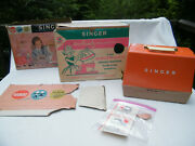 Gilbert Toy Singer Sewhandy Mod 50 Electric Sewing Machine, Carry Case, Boxes