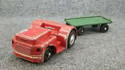 Vintage Doepke Model Toys Airline Service Tracter And Trailer Rossmoyne Ohio Usa