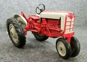 Vintage Hubley Ford Diecast Metal Tractor And Plow W/3 Point Hitch