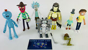 Funko Rick And Morty Lot Of 7 Action Figures Adult Swim Wave + Accessories