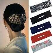 Girl Knot Scrunchie Hairstyle Donut Bun Curler Maker Bow Twist Tool Hair Clips