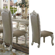 Acme Versailles Counter High Chair Vintage Gray Pu And Bone White Us