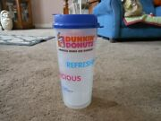 Whirley Dunkin' Donuts 24 Oz. Double Wall Iced Coffee Cup, 2015, Snap Close Lid