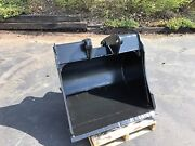 New 36 Backhoe Bucket For A Caterpillar 416d - No Teeth With Coupler Pins