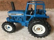 Farm Toy, Ford 8630 Powerlift Tractor, 132 Scale, Blue, Black And White