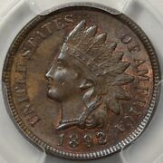 1892 Indian Cent Pcgs And Cac Ms-64bn - Original With A Little Bit Of Red