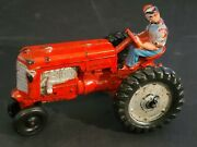 Vintage Auburn Large Rubber Tractor With Driver